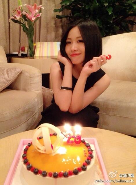 2014年姚贝娜33周岁生日照是那么的美丽动人
