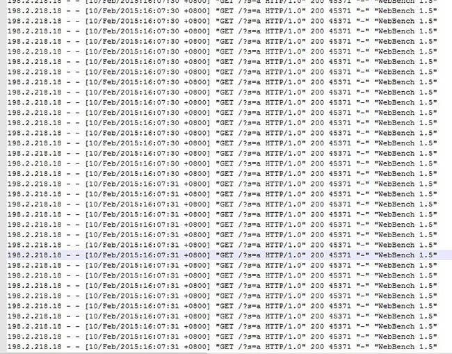 文武双全个人网站被webbench压测攻击的日志
