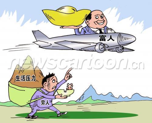 中国的贫富差距正在拉大