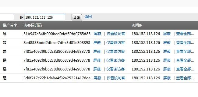 同IP同操作系统同分辨率同浏览器访客识别码不同